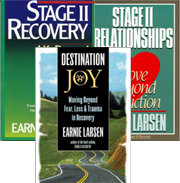 Stage II and Beyond Collection Set of three popular books by noted author and recovery expert Earnie Larsen: <i>Stage II Recovery, Stage II Relationships</i>, and <i>Destination Joy</i>.