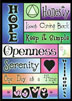"Hope Honesty Openness Greeting Card Outside: a fun and creative design that includes all the reasons why you ""keep coming back"" to meetings._x000D_  <P>Inside, the greeting card is blank for your personal message."