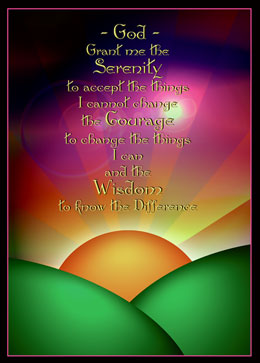 Serenity Prayer Sun Greeting Card