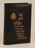Big Book Black Leather Book Cover with Serenity Prayer