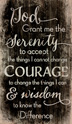Wall Plaque Serenity Prayer Use this wooden serenity prayer wall plaque to beautifully decorate your home or office and help you remember to keep your serenity throughout the day.