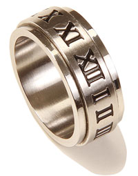 Roman Numeral Spinner Ring Size 9