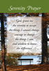 Serenity Prayer Wallet Card Peaceful meditation scene on the front of this wallet card with the short version of the Serenity Prayer. Full prayer on backside.