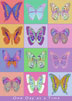 One Day at a Time Butterfly Greeting Card Celebrate the rebirth of someone new to recovery by giving them this greeting card with the symbolic colorful butterflies.