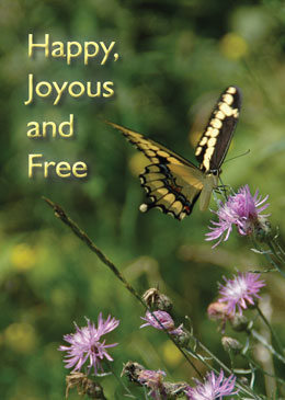 Happy Joyous and Free Greeting Card