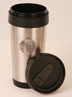 Serenity Prayer Stainless Steel Thermal Tumbler God grant me the serenity to accept the things I cannot change, courage to change the things I can, and wisdom to know the difference. This inspirational verse is written on this 16 oz. stainless steel coffee mug with black plastic trim and interior, made to hold any hot beverage.