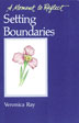 Setting Boundaries This booklet is part of Hazelden's inspirational series for Twelve Step living. Contains 30 topical affirmations to guide you as you work to improve relationships.