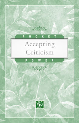 Accepting Criticism Pocket Power