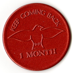 Keep Coming Back Tokens Pkg 10 Red 1 month
