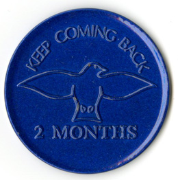 Keep Coming Back Tokens Pkg 10 Blue 2 month