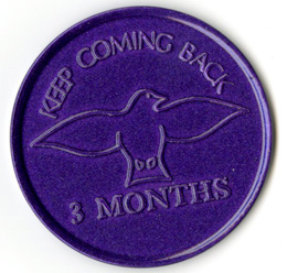 Keep Coming Back Tokens Pkg 10 Purple 3 month
