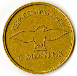 Keep Coming Back Tokens Pkg 10 Gold 6 month