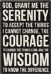 "Serenity Tabletop Sign Proudly display this 8"" x 12"" wood sign as a daily reminder of the power and wisdom contained in the Serenity Prayer."