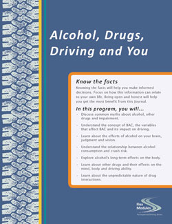 Flex Modules Alcohol, Drugs, Driving and You Journal, Pkg. of 25