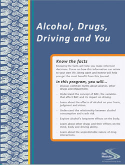 Spanish Flex Modules Alcohol, Drugs, Driving and You Journal, Pkg. of 25