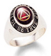 "Women's Recovery Celebration Ring 10K Gold Keep a lovely reminder of your recovery at hand with this 10k gold ring, with the unity symbol inlaid in your choice of five stones, bordered by ""To Thine Own Self Be True."""