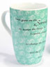 Serenity Prayer Latte Mug Get a taste of serenity each time you use this mug. The classic Serenity Prayer wraps around a generous 13 oz. porcelain mug.<p>Microwave and dishwasher safe.