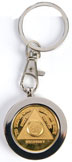 Nickel plated Medallion Holder Nickel plated keychain, a great way to keep a daily reminder of your sobriety.