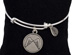 Angel Wings Bangle Bracelet Adjustable silver-plated bracelet features a round charm with Angel Wings.
