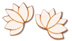 Lotus Earrings </br>Encourage pure thoughts and actions with the wooden and sterling silver earrings in the shape of a
