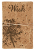 Canvas Wish Journal </br>The image of dandelion seeds venturing into the wind will help lead you on a journey of self-discovery, as you write and draw your wishes for the future. With a soft canvas cover and 48 pages of thick, quality paper, it's pleasing to both the hand and the pen.</br>