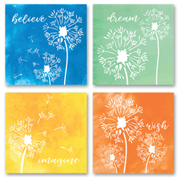 Dandelion Coaster Set