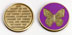 Serenity Prayer Butterfly Rainbow Medallion