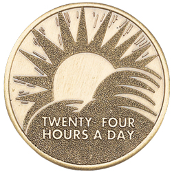 Twenty Four Hours a Day Commemorative Medallion