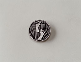 Footprints Pocket Medallion
