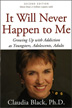 "eBook It Will Never Happen to Me <p><img border=""0"" src=""http://www.hazelden.org/web/public/image/ebookicon.jpg""  align=""left"" alt=""Hazelden eBook available""><a href=""http://www.amazon.com/gp/product/B00BS02B2G/ref=as_li_qf_sp_asin_tl?ie=UTF8&camp=1789&creative=9325&creativeASIN=B00BS02B2G&linkCode=as2&tag=hazeldbookst-20"">Buy your Kindle eBook from Amazon</a><BR><a href=""http://store.kobobooks.com/en-US/ebook/it-will-never-happen-to-me"">Buy your kobo eBook</a><br><a href=""http://search.barnesandnoble.com/booksearch/isbninquiry.asp?isbn=9781592857715&z=y&cds2Pid=9481"">Buy your eBook formats from Barnes and Noble</a><br><a href=""https://itunes.apple.com/us/book/it-will-never-happen-to-me/id616149713?mt=11"">Buy your iBook at iTunes</a>  <P>It Will Never Happen to Me identifies common issues faced by children who grew up in alcoholic families -- shame, neglect, unreasonable role expectations, physical abuse -- and helps them find a healthier, happier way to live."
