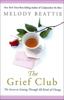 "eBook The Grief Club <p><img border=""0"" src=""http://www.hazelden.org/web/public/image/ebookicon.jpg""  align=""left"" alt=""Hazelden eBook available""><a href=""http://www.amazon.com/gp/product/B00BS02E32/ref=as_li_qf_sp_asin_tl?ie=UTF8&camp=1789&creative=9325&creativeASIN=B00BS02E32&linkCode=as2&tag=hazeldbookst-20"">Buy your Kindle eBook from Amazon</a><BR><a href=""http://store.kobobooks.com/en-US/ebook/the-grief-club"">Buy your kobo eBook</a><br><a href=""http://search.barnesandnoble.com/booksearch/isbninquiry.asp?isbn=9781592857821&z=y&cds2Pid=9481"">Buy your Barnes and Noble eBooks</a><br><a href=""https://itunes.apple.com/us/book/the-grief-club/id616116326?mt=11"">Buy your eBook at iTunes</a>  <p>Best-selling author Melody Beattie's profoundly personal, powerfully healing book to help readers through life's most difficult times. Part memoir, part self-help book, part journalism, <I>The Grief Club</I> is a book of stories bound together by the human experience of loss in its many forms such as death, divorce, drug addiction, and the tumultuous yet tender process of recovery."