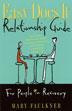 "eBook Easy Does It Relationship Guide for People in Recovery <p><img border=""0"" src=""http://www.hazelden.org/web/public/image/ebookicon.jpg""  align=""left"" alt=""Hazelden eBook available""><a href=""http://www.amazon.com/gp/product/B00BS02CNE/ref=as_li_qf_sp_asin_tl?ie=UTF8&camp=1789&creative=9325&creativeASIN=B00BS02CNE&linkCode=as2&tag=hazeldbookst-20"">Buy your Kindle eBook from Amazon</a><BR><a href=""http://store.kobobooks.com/en-US/ebook/easy-does-it-relationship-guide-for-people-in-recovery"">Buy your kobo eBook</a><BR><a href="" http://search.barnesandnoble.com/booksearch/isbnInquiry.asp?ean=9781592859627&itm=1"">Buy your Barnes and Noble eBooks</a>  <br><a href=""https://itunes.apple.com/us/book/easy-does-it-relationship/id616120782?mt=11"">Buy your iBook at iTunes</a>  <p>When one or both partners are in recovery from addiction, some extra insight about relationships can make all the difference. With a light touch, therapist Mary Faulkner shows you how to build a healthier, happier, closer relationship."